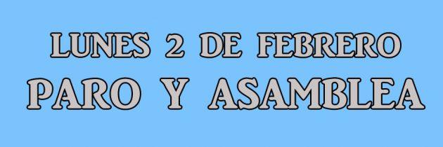 ANTE LA FALTA DE RESPUESTAS – LUNES 2 DE FEBRERO PARO Y ASAMBLEA 08:30 HS
