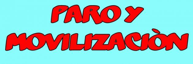 PARO Y MOVILIZACIÓN – JUEVES 12 DE MARZO
