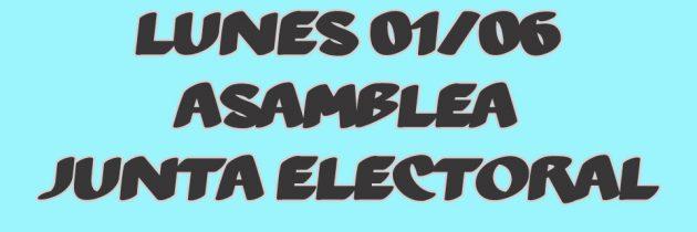 ASAMBLEA – ELECCIÓN JUNTA ELECTORAL
