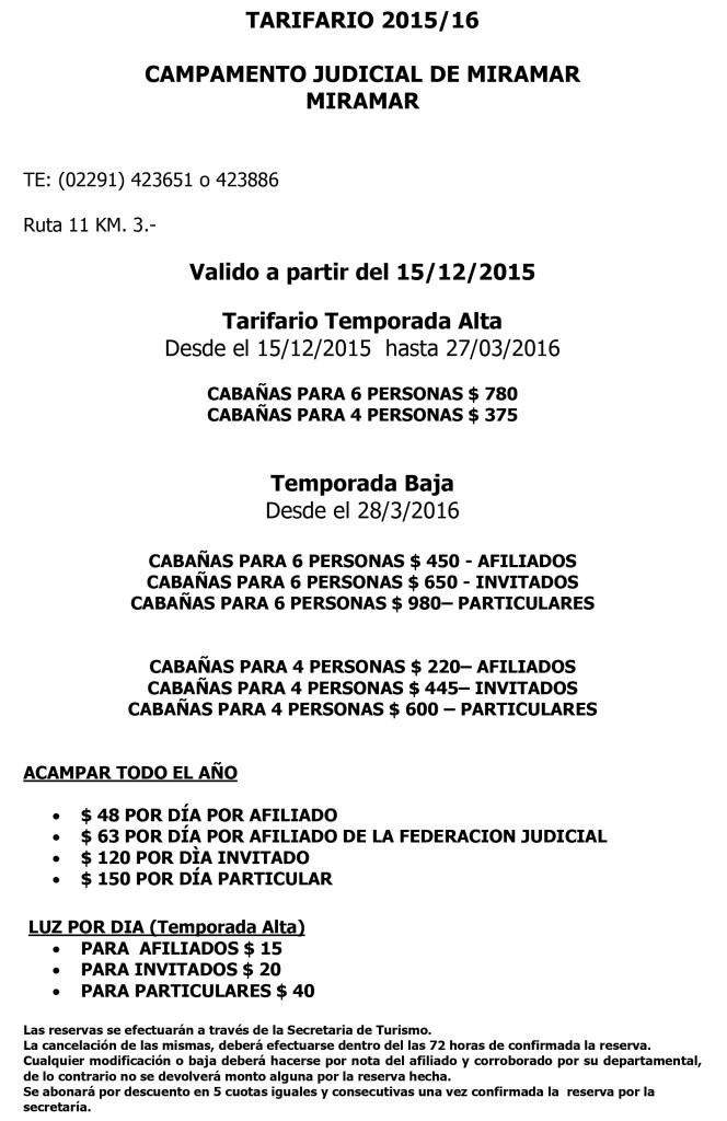 Microsoft Word - Parador y camping 2016 tarifario.doc