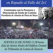JORNADA DE REFLEXIÓN EN DEFENSA DE LOS DERECHOS HUMANOS Y EN REPUDIO AL FALLO DEL 2X1