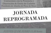 Jornada de Reflexión en defensa de los Derechos Humanos, REPROGRAMADA