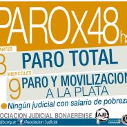 PARO X 48 HORAS – MARTES 8 Y MIERCOLES 9 DE AGOSTO